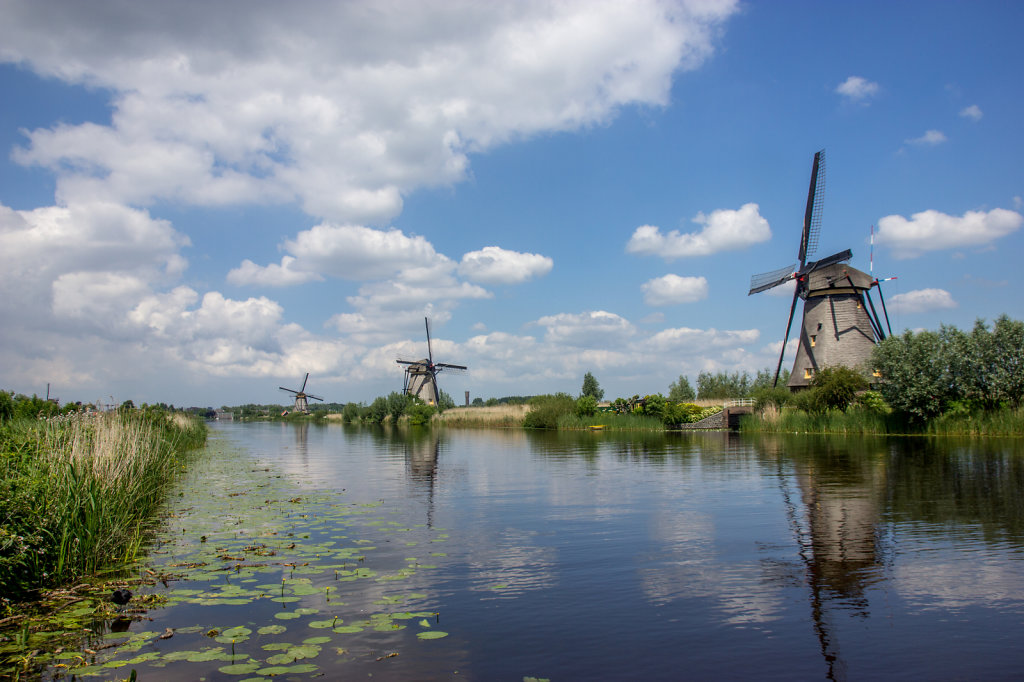 Historic Windmills at Kinderdijk, Netherlands